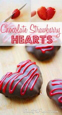 לבבות תותים מצופים שוקולד